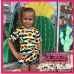 Glitter and Glam Boutique Kids Sunflower Tee