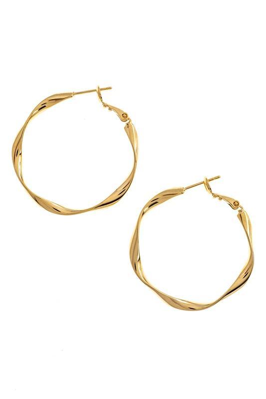 The ML Edit | Textured Hoop Earrings | $20.00