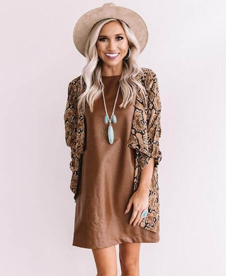 Impressions Boutique || Going The Distance Faux Leather Dress $44.80