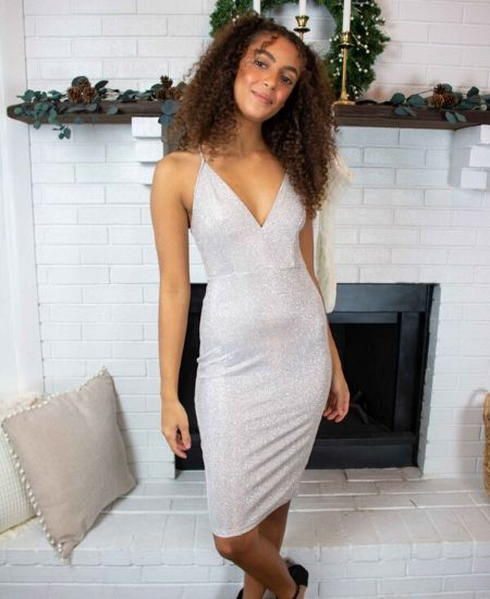 Shellsea || ALL THAT GLITTERS BODYCON DRESS $37.99