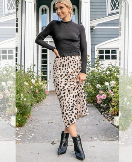 Delectable Darla || Leopard Skirt $38.00