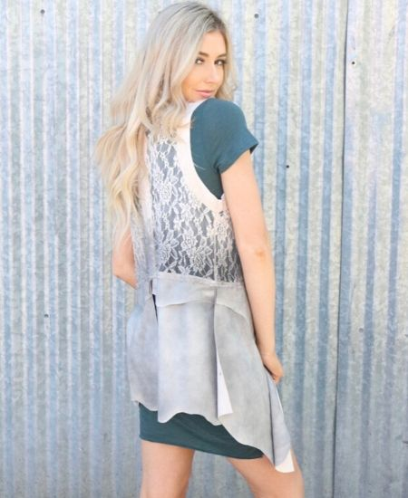WHISPER OF SMOKE LACE VEST