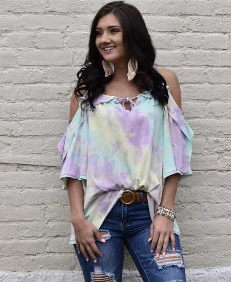 Lace and Grace Boutique || How Forever Feels Top - Lilac Mint $36.00