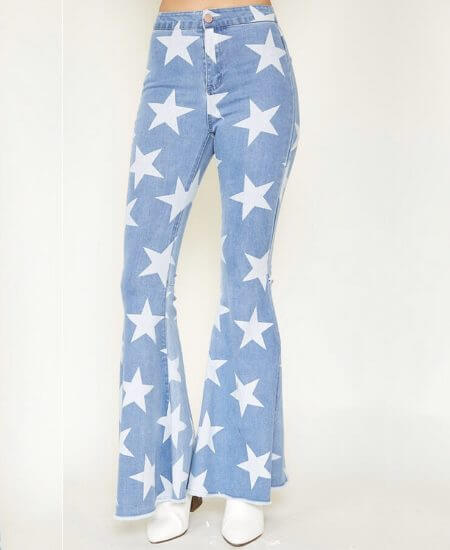 LUXE Clothiers || You're A Star Bell Bottom Jeans $45.00