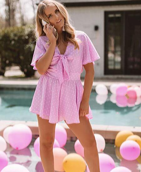 Impressions || Highway to Happiness Polka Dot Romper $34.30