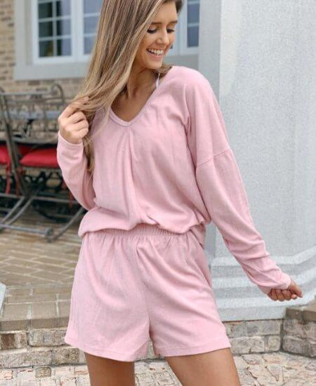 Clarion Couture || Light Pink Cozy Lounge Set$ 40.00