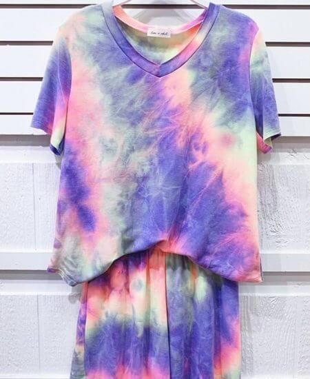 Harper Rylee Boutique    Tie Dye Lounge Set $39.00