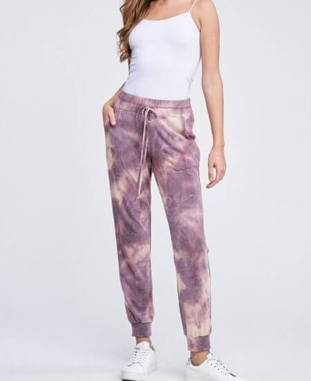 The Modern Gypsy Collection || Perfectly Purple Tie Dye Joggers $45.00