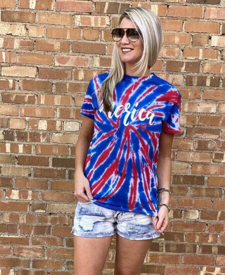 Rebel Threads Boutique || Merica Tie Dye Tee $29.99