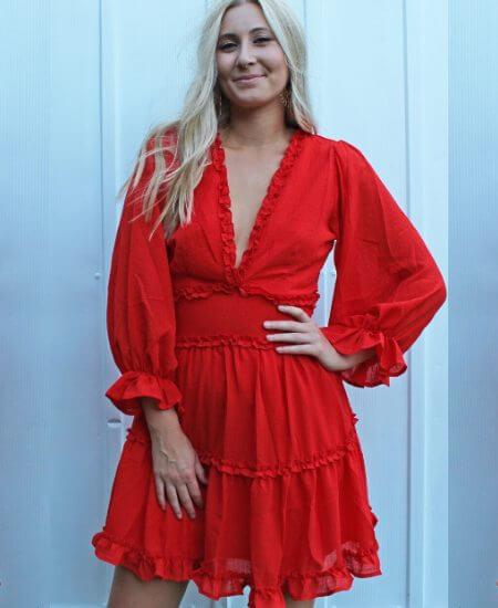 Grace and Edge    Tried & true dress [red/orange] $ 44.00