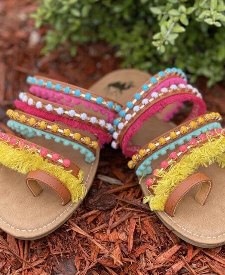 Stellas Shabby Boutique || Fun in the Sun Sandals $39.95