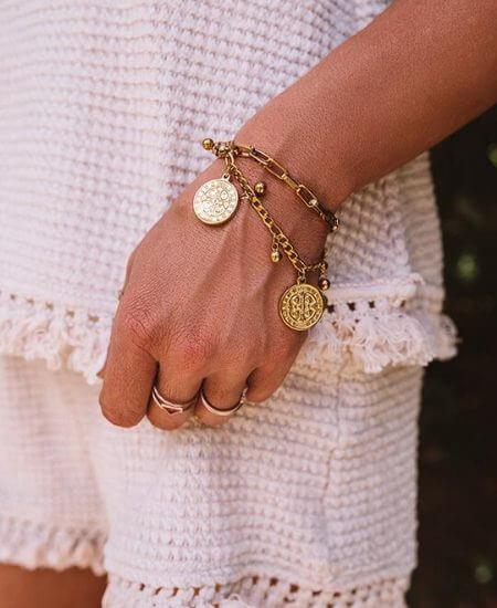 Impressions Boutique || All Saints Coin Bracelet $60.00
