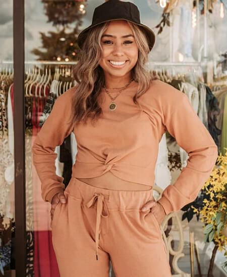 Herringstone's Boutique || Take It Easy Twist Front Sweatshirt $56.00