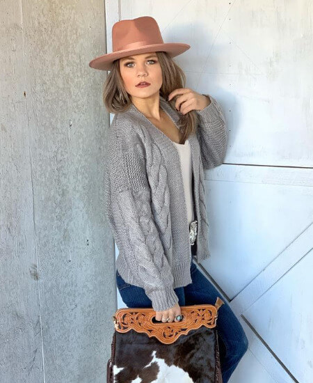 Country Sass Boutique || Monroe Dusty Pink Hat $112.00
