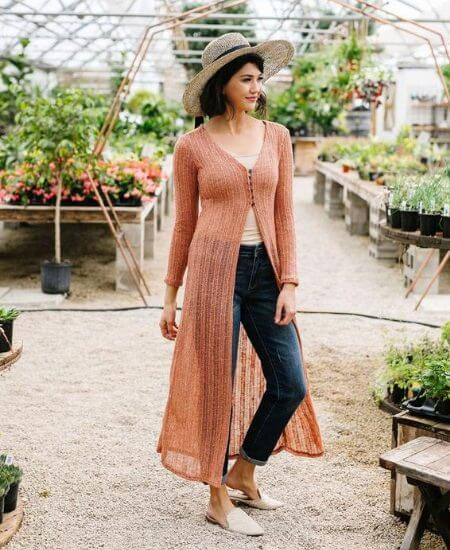 The Bee Chic Boutique || Copper Sweater Maxi Cardi $46.00