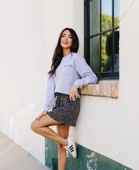 Risen Boutique || Good Vibes Heather Gray Sweatshirt $42.00