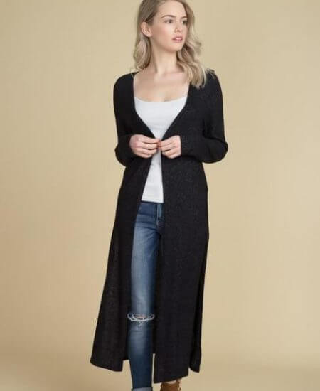 Chicks and Littles || Dust Your Shoulders Off Black Duster $36.00