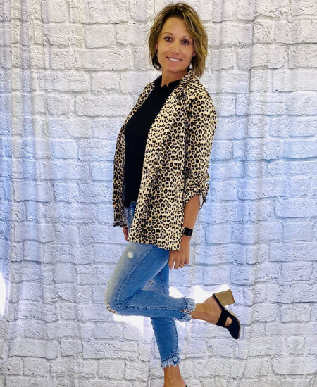 Treat U Boutique || LEOPARD BLAZER $49.95