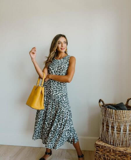 Payton Piper Boutique || SAGE CHEETAH DRESS $44.00