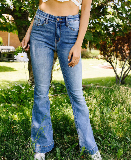 The Daofs Boutique || Beware The Flare Jeans $58.00