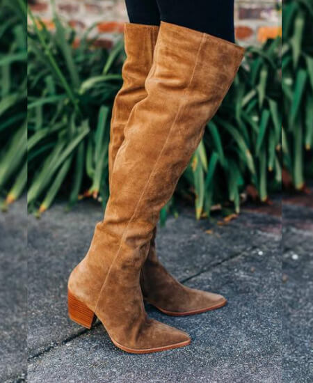 HerringStone's Boutique || Matisse: Sky High Over-the-Knee Suede Boots - Fawn $290