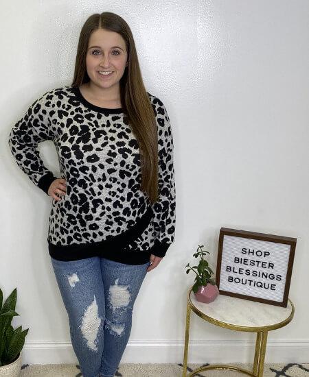 Biester Blessings Boutique || HoneyMe - Gray & Black Leopard Weekender $40.99