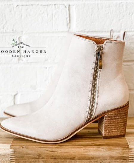 The Wooden Hanger Boutique || Certain About You Booties $52.00
