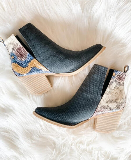 Babes Boutique || WILD WEST RATTLESNAKE BOOTIES $55