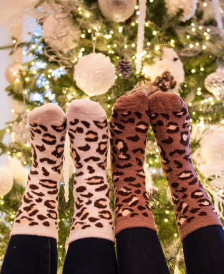 Pink Tag Boutique || Leopard Crew Socks $15