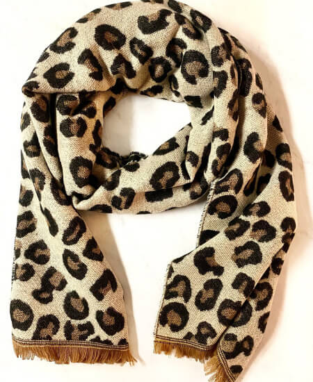 Birch & Oak Boutique    Leopard Print Woven Scarf $24.99