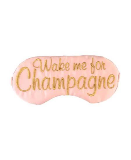 Alma Boutique    Wake Me For Champagne Sleep Eye Mask $16.00
