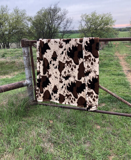 Southern Okies Boutique || CowPrint Blanket $180.00