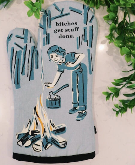 BLUSH BOUTIQUE || B*TCHES GET STUFF DONE OVEN MITT $ 11.99