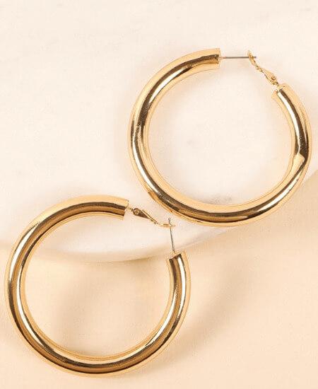Pixelated Boutique    Kula Chunky Hoop Earrings $19.00