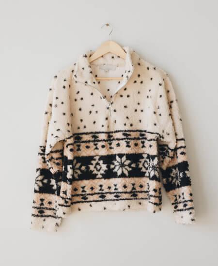 CITY AND STARS || Jackson Sherpa Pullover Cream $34.00