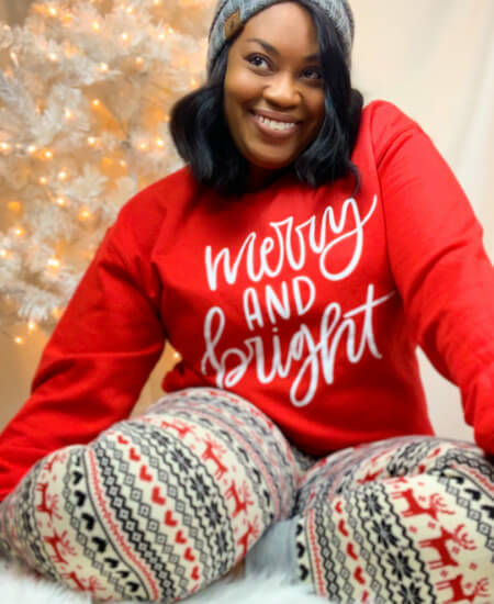 Ngenuity Boutique || Merry and Bright Sweatshirt $ 32
