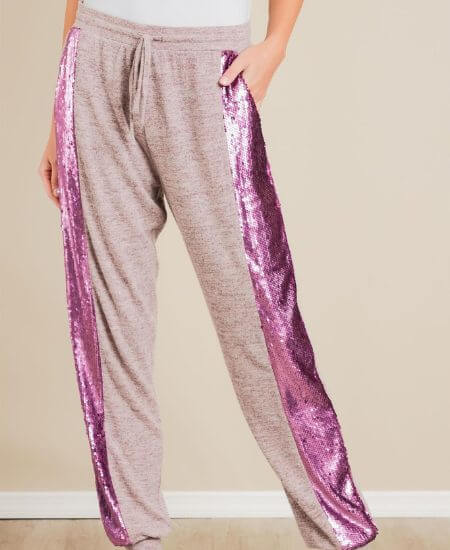 Avella Boutique || House Party Sequin Joggers $29.00