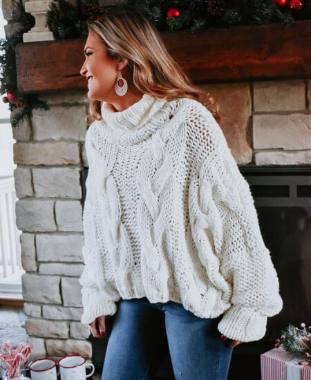 Everyday Chic Boutique || Marie Turtleneck Sweater $89.00