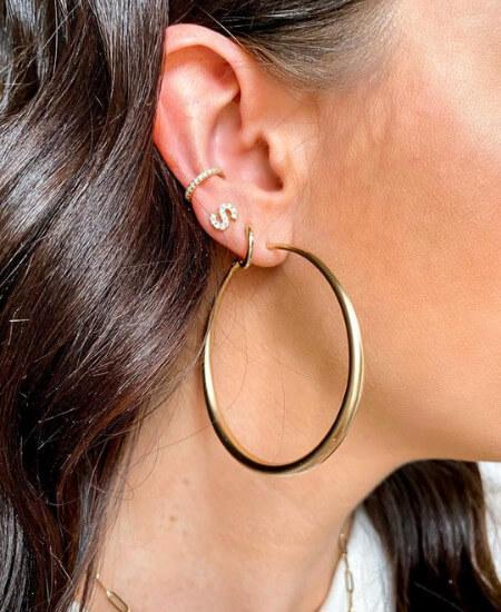 Madison and Mallory || Ottava Matte Hoop Earrings $19