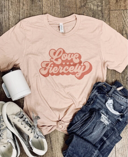 The Rowe Boutique || Love Fiercely Tee $29.00