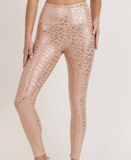 Blondie & Bru || Wild At Heart Foil Print Leopard Leggings $35.99