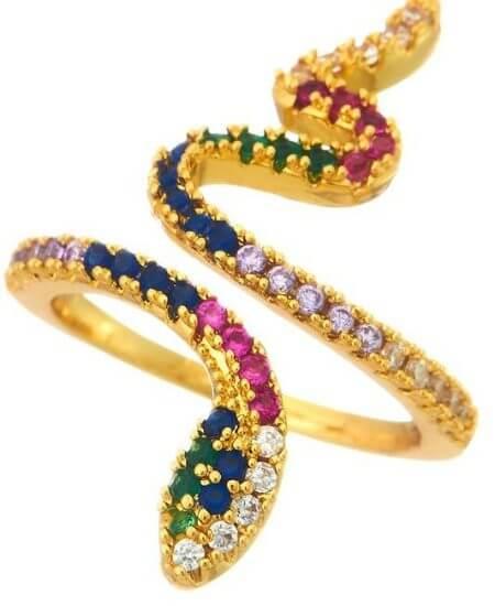 Piper || Rainbow Snake Ring $16.20