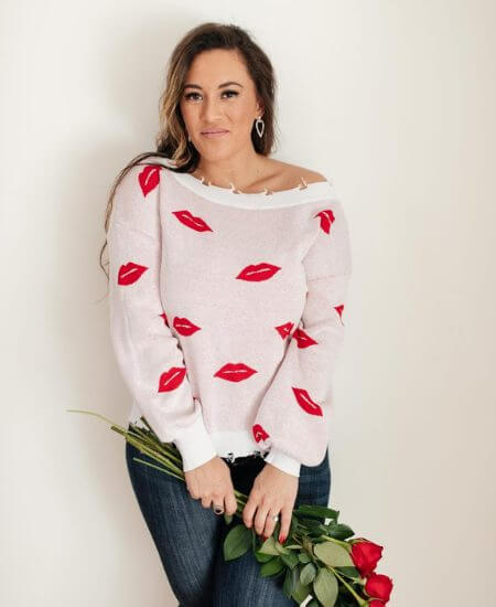 The Bee Chic Boutique || Luscious Lips Top in White $48.00