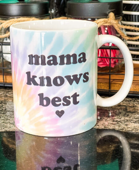Southern Mess Boutique || Mama Knows Best Watercolor Ceramic Coffee Mug $16.99