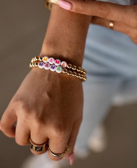 Vintage Leopard || Colorful Mama Beaded Bracelet Set $ 19.50