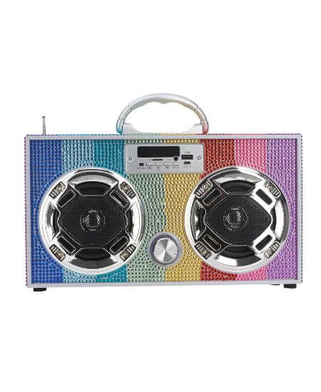 Sugar-N-Spice Children's and Tween Boutique || Rainbow Bling Boombox $82.00