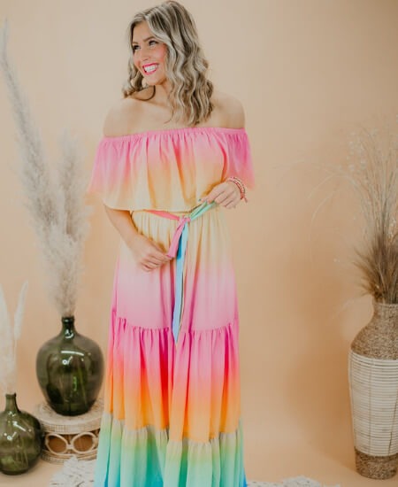 Everyday Chic Boutique || Full Of Color Maxi Dress $64.98