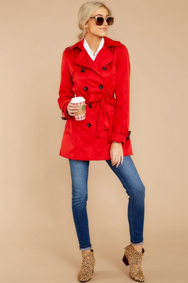 Red Dress Boutique | Hot On The Trail Red Coat |  $32