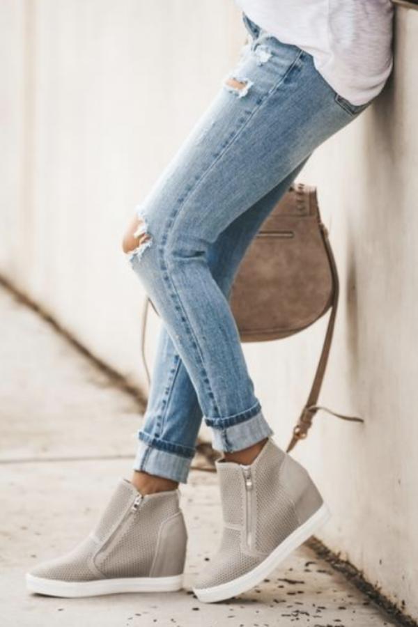 Bad Habit Boutique | Zoey Gray Wedge Booties Regular price $ 44.47