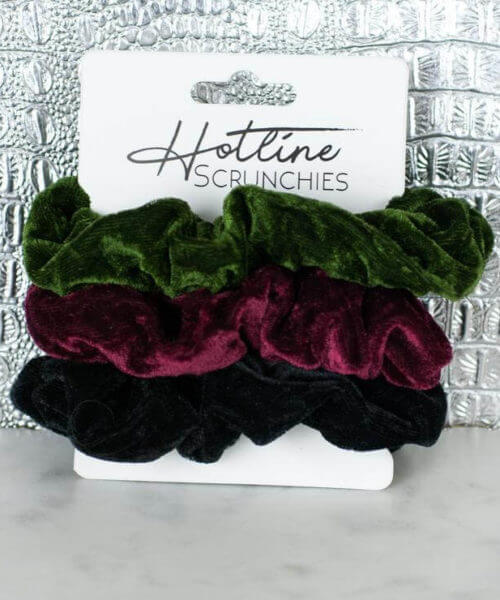 Southern Mess Boutique || Hotline Hair Ties Velvet Scrunchies $10.99